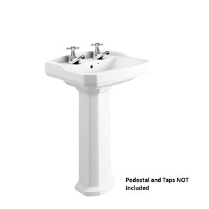 Inspirations Mostar 53cm 2 Tap Hole Wash Basin