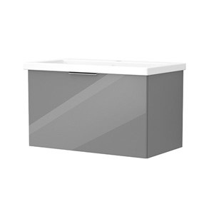 Inspirations Source 765mm Wall Hung Single Drawer Unit Grey Gloss