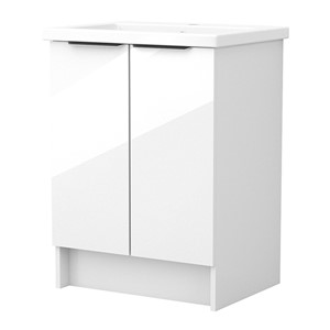 Inspirations Source 565mm Freestanding Double Door Unit White Gloss
